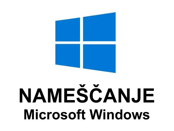 Nameščanje Microsoft Windows