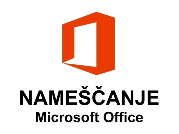Nameščanje Microsoft Office